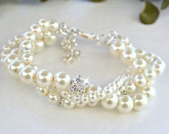 Twisted Pearl Bracelet