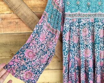 Rare 70s Adini Cotton Gauze Dress- Small/Medium