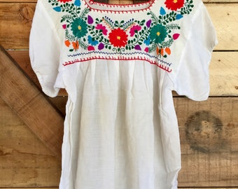Vintage Embroidered Blouse- Medium