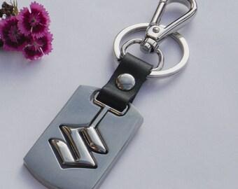 volvo keyring black gold chrome keychain key ring car truck. Black Bedroom Furniture Sets. Home Design Ideas