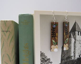 Catherine Morland Handpainted Earrings