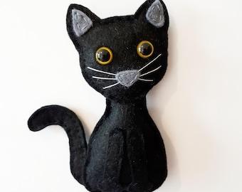 Black Cat Magnet, Cat Lover Gift, Cat Fridge Magnet, Black Cat Decor - Black Cat Gift