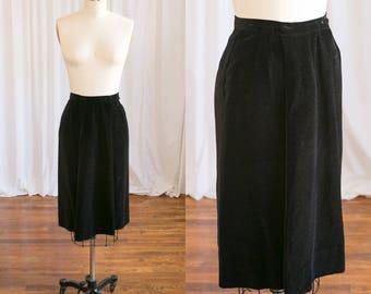 Andrea skirt | vintage 50s skirt | black velvet 1950s skirt | Nelly de Grab | vintage cotton velvet skirt | 1950s black velvet skirt