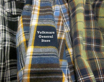 Vintage Flannel Shirts For Men Women Teen's Tween's Sizes Small Medium Large XL XXL 3XL For Groups Gatherings Photos Family Reunions