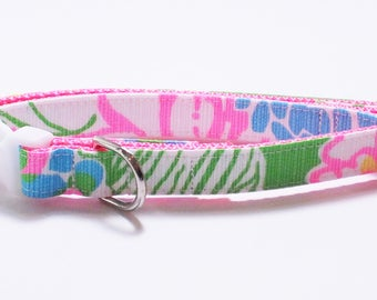 Lilly Pulitzer Hibiscus Stroll Dog Collar, pet collar