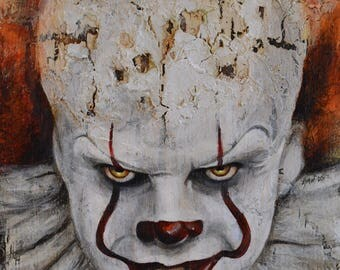 Pennywise the Clown - It - Stephen King - Bill Skarsgård - Art Print