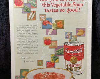 1926 Campbell's Vegetable Soup Advertisement McCall's Magazine August Original
