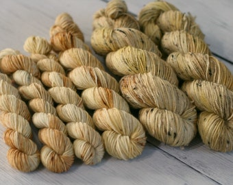 Ready To Ship - Golden Snitch - Speckled Yarn - Sock Yarn - Hand Dyed -Yarn - Merino - Nylon - Yarn - Knitting - Multiple Bases
