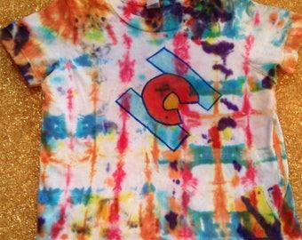 Kids' Size 4 Tie Dye T-Shirt With Colorado Flag