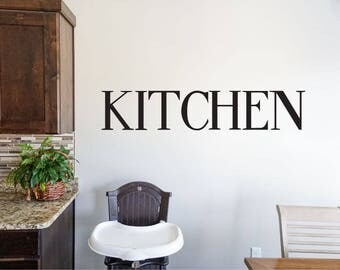 Kitchen - Vinyl Decal Wall Art Decor Sticker - Home Decor Kitchen Dining Area House Oven Fridge Sink Cooking Bar Table v2