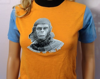 Vintage 1970s Planet of the Apes Cornelius Shirt XS