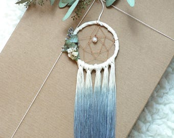 Grey Mini Dream Catcher- Rearview Mirror Dream Catcher