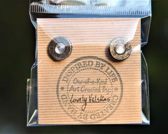 Rifle Bullet Stud Earrings