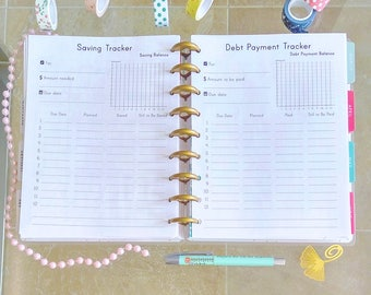 Happy Planner Debt Snowball Saving Tracker Debt Payment Tracker Inserts Money Goals Financial Printable PDF Made To Fit Erin Condren Planner