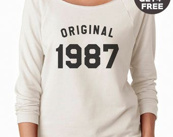 31th birthday gift sweatshirt hipster graphic tees birthday shirt 1987 sweater pullover sweatshirt women gifts men sweatshirt funny gifts