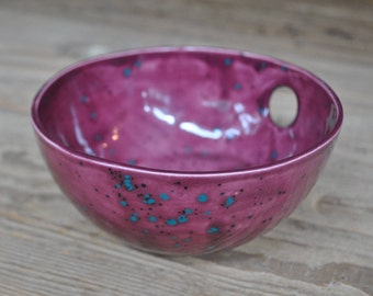 Raspberry  Ceramic Bowl, Handmade Pottery, Decorative  Serving Dish, Home Decor