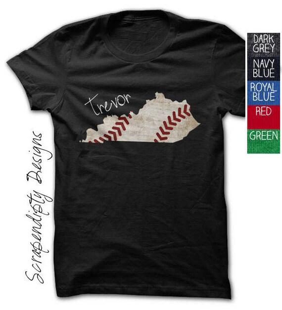 Kentucky baseball tshirt baseball shirt custom kentucky for Custom t shirts lexington ky