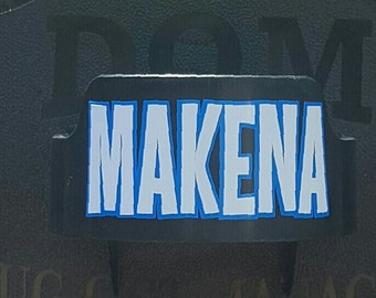 Name/# Decal for Dugout Manager DOM