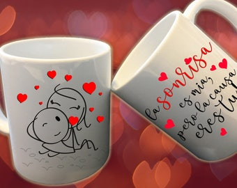 11 oz ceramic coffee/tea mug, perfect gift for valentine's day or any occation