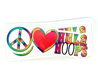 Peace Love & Hula Hoops Vinyl Sticker