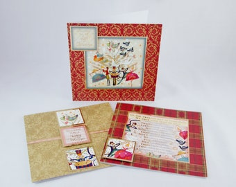 Christmas Cards, Pack of Cards, Holiday Cards, Merry Christmas, Traditional Christmas, Greetings Card, Xmas Cards