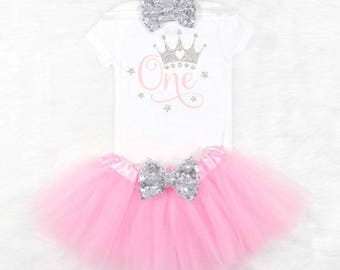 princess first birthday outfit girls first birthday outfit baby girls first birthday outfit babys first birthday outfit first birthday girl