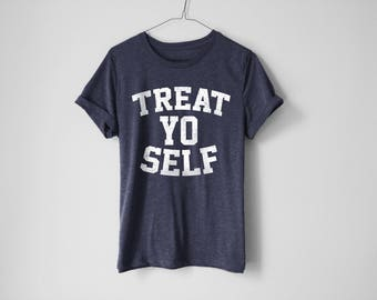 Treat Yo Self Shirt | Treat Yourself Shirt | Parks And Red Shirt | Funny Parks And Recreation Shirt | Leslie Knope Shirt