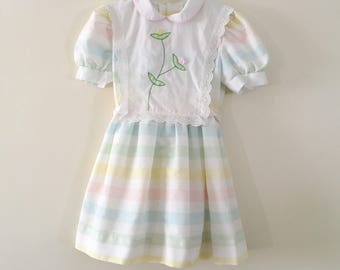 Vintage Pastel Dress - Size 6 Girls