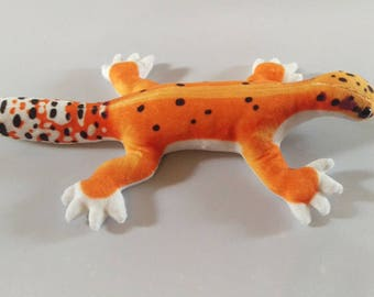 Leopard Gecko Plush / Realistic Markings / Tangerine Morph