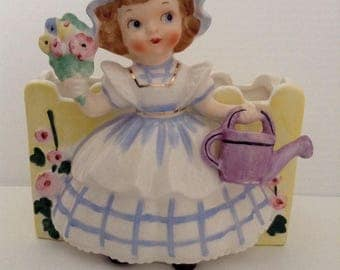 Vintage Mary Mary Quite Contrary Planter by Napco