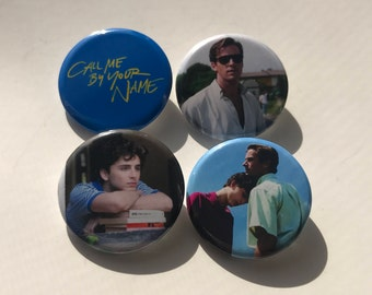 """1.25""""  Call Me By Your Name Pinback Pack Pins Buttons Armie Hammer Timothee Chalamet"""