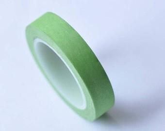 Skinny Green Washi Tape Masking Tape 10mm x 10M Roll No.12759