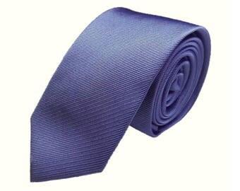 """Periwinkle Blue Neck Tie Groomsman Wedding Necktie Ties Groomsmen Slim 2.5 """" Neckties Cornflower Blue Steel Blue Jacquard Textured Tie"""