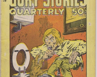 GORY STORIES,#2 1/2, R Crumb,John Pound,Scott Shaw,Wally Wood EC Comics parody,Fantasy Toilet Horror Psychedelic Underground Anthology Comic