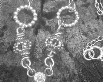 Personalised Initial silver necklace