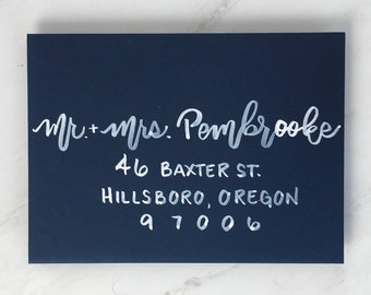 "Envelope Addressing | Envelope Calligraphy | Wedding Envelopes | Wedding Calligraphy | Wedding Invitations | the ""Portland"" font"