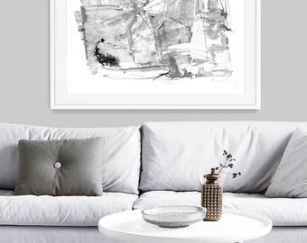 Printable Abstract, Scandinavian Modern, Black and White Art, Scandinavian Minimal Art, 24x36 Print, minimalist, instant download, Large Art