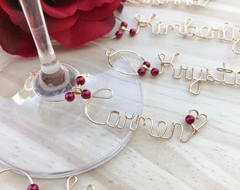 Personalized Valentine's Day Gifts for Valentine – Personalized Galentine's Day Gifts for Galentine - Personalized Wine Charms – Wire Wine