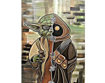 Yoda/Jawa Print 11x14in