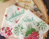 Altar Cloths for your Wicca Altar, Embroidered Altar Cloths, Witchcraft, Wicca, Blessed Be, Witch Supplies, Wicca Altar Cloth, Hankie