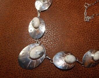 White turquoise, white turquoise necklace,  SOUTHWESTERN JEWELRY, YES,  Buffalo, Texas, sterling silver necklace, western jewelry, horse