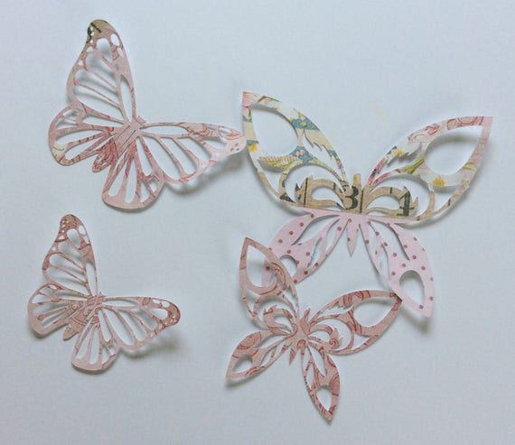 Butterfly Die Cuts, Butterfly Cut Outs,Art Journal,Scrapbooking,Paper Embellishments,Garden Party,Butterfly Party,Junk Journal,Smash Book