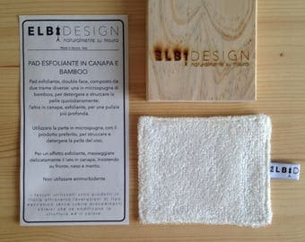 Exfoliating PAD in hemp and bamboo makeup Remover