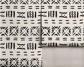Mudcloth Peel 'n Stick Repositionable Wallpaper