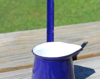 Dark Blue Yugoslavia Enamelware Ladle