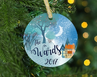 Realtor Closing Gifts, Realtor Gift for Clients, New Home, Housewarming Gift, Personalized First Home Ornament, Custom Christmas Ornament