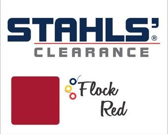 "9"" x 10 Yards - Stahls' Flock - Craft Roll - Iron-on - Heat Transfer Vinyl - HTV - Red"
