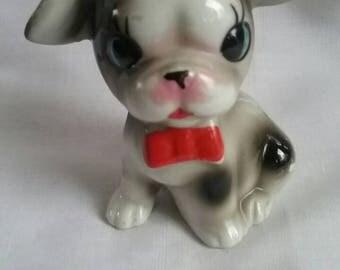 Vintage Dog Figurine Japan Adorable!