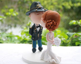 Custom Cake topper for J. Army Groom. Handmade. Fully customizable. Unique keepsake