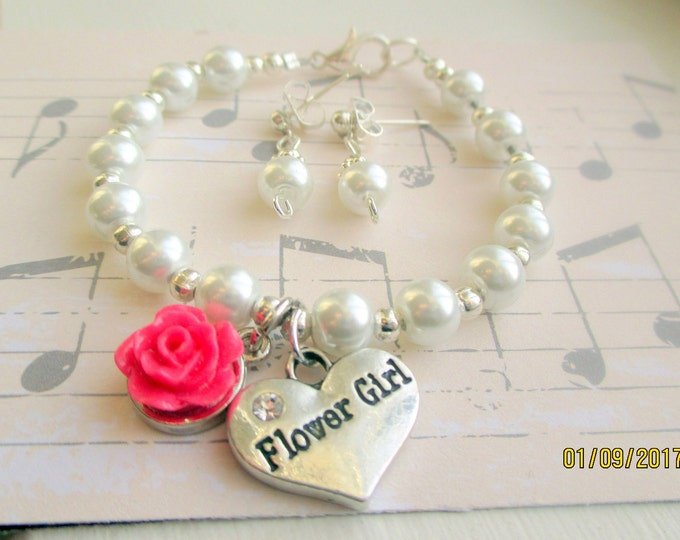 Flower girl jewelry-girls pearl bracelet-Childrens Wedding Jewelry-flower girl gift-childrens pearls-sterling silver-flower girl bracelet